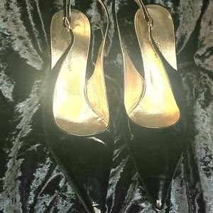 Dolce and Gabbana patent leather slingback heels